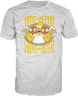 Homer Beer Fear Official Men's T-Shirt (Heather Grey)