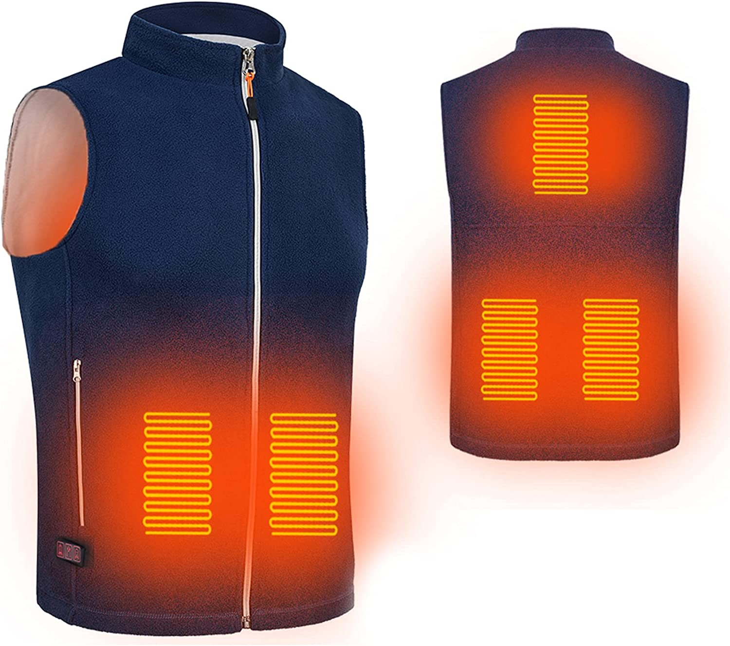 5 Heating Areas Winter Heated Vest Electric Thermal Clothing Waistcoat Fish Hiking Outdoor USB Infrared Heating Vest Jacket