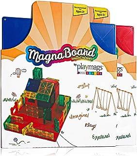 Playmags Tablero de construcción Tablero magnético de construcción Cualquier Otra baldosa magnética. Fantástico complemento para Cualquier baldosa magnética. Los Colores Pueden Variar.