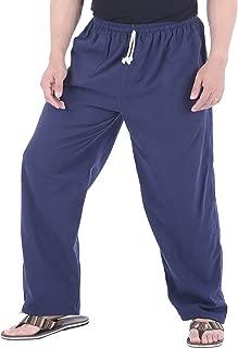 Mens Cotton Loose Joggers Casual Lounge Pajama Gym Workout Yoga Pants