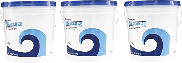 Boardwalk HURACAN40 Low Suds Laundry Detergent, Powder MZISAY, 3 Pack (40lb.)