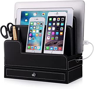 EasyAcc Charging Stations for RAVPower 60W 12A 6-Port Multiple Devices Double-Deck Docking Station Organizer for Anker USB Charger (Without Charger) for iPhone 11 Pro Cell Phones,Tablet,MacBook(Black)