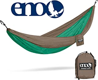 ENO - Eagles Nest Outfitters DoubleNest Hammock, Portable Hammock for Two for Outdoor Camping, Special Edition Colors, Emerald/Khaki
