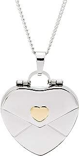 Gold Heart Secret Message Envelope Locket