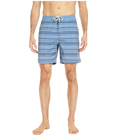 Faherty Classic 7 Boardshorts (Blue Falls Ikat) Men