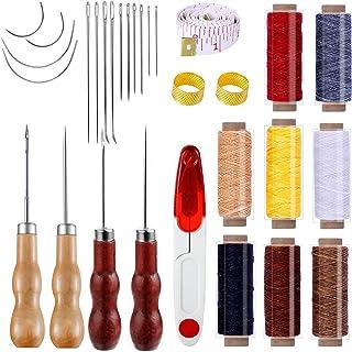 Ouinne Leder Werkzeug, Leder Gewachst Sattlergarn Ledernähset Handwerk Werkzeug Leder Handnähen Tools für lederhandwerk DIY Sewing Craft Hand Nähen