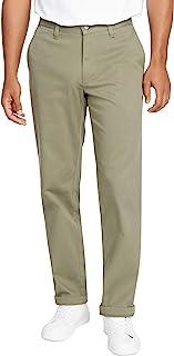 Nautica Men's Nautica Men's Classic Fit Flat Front Stretch Solid Chino Deck Pant Pants
