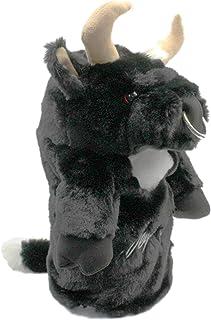 ホクシン交易 HTCゴルフ ヘッドカバー ブラック ドライバー用[460cc対応] セルヒオ・ガルシア ブル プロ仕様 牛 WHC1776