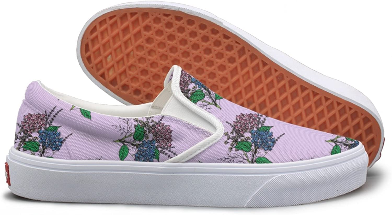 SEERTED Provence Lavender Flower Purple Canvas shoes Women Slip On