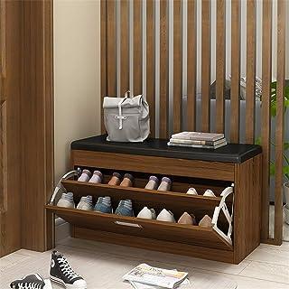 Banc de Chaussures d'entrée Cabinet de rangement Chaussures de rangement de table à chaussures avec coussin rembourré, por...