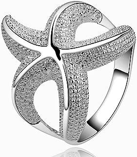 Nattaphol Customizable Women Wedding Rings Personalized Fashion Starfish 925 Solid Silver Plated Ring de Prata anillos (8)