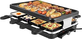 Appareil Raclette, ETE ETMATE 1300W Sans Fumée Raclette Grande Taille Disponible dans une Variété de Scénarios avec Revête...