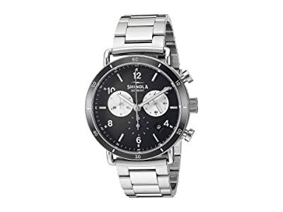 Shinola Detroit 40 mm Canfield Sport (Black/Silver Bracelet) Watches