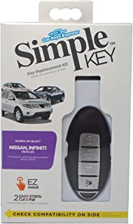 Car Keys Express Simple Key Smart 4 Button Remote Replacement for Nissan