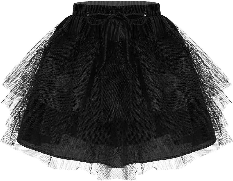 Jelory Kids Little Girl's 3 Layers Hoopless Petticoat Crinoline Elastic Waist Flower Girl Tutu Underskirt Half Slips