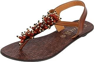 Catwalk Women's Beaded Detail Back Strap Sandals - 8 UK/India (40 EU) (2788T)