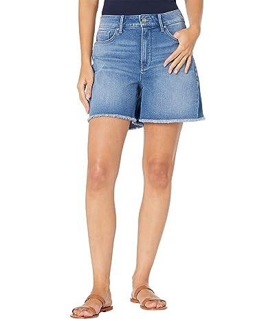 NYDJ Petite Petite Higher Rise A-Line Denim Shorts in Astral
