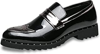 Carol Chambers Patent Leather Dress Shoesgold Men Shoescasual Loafers Men Pointed Toe Moccasin Party Wedding Shoes