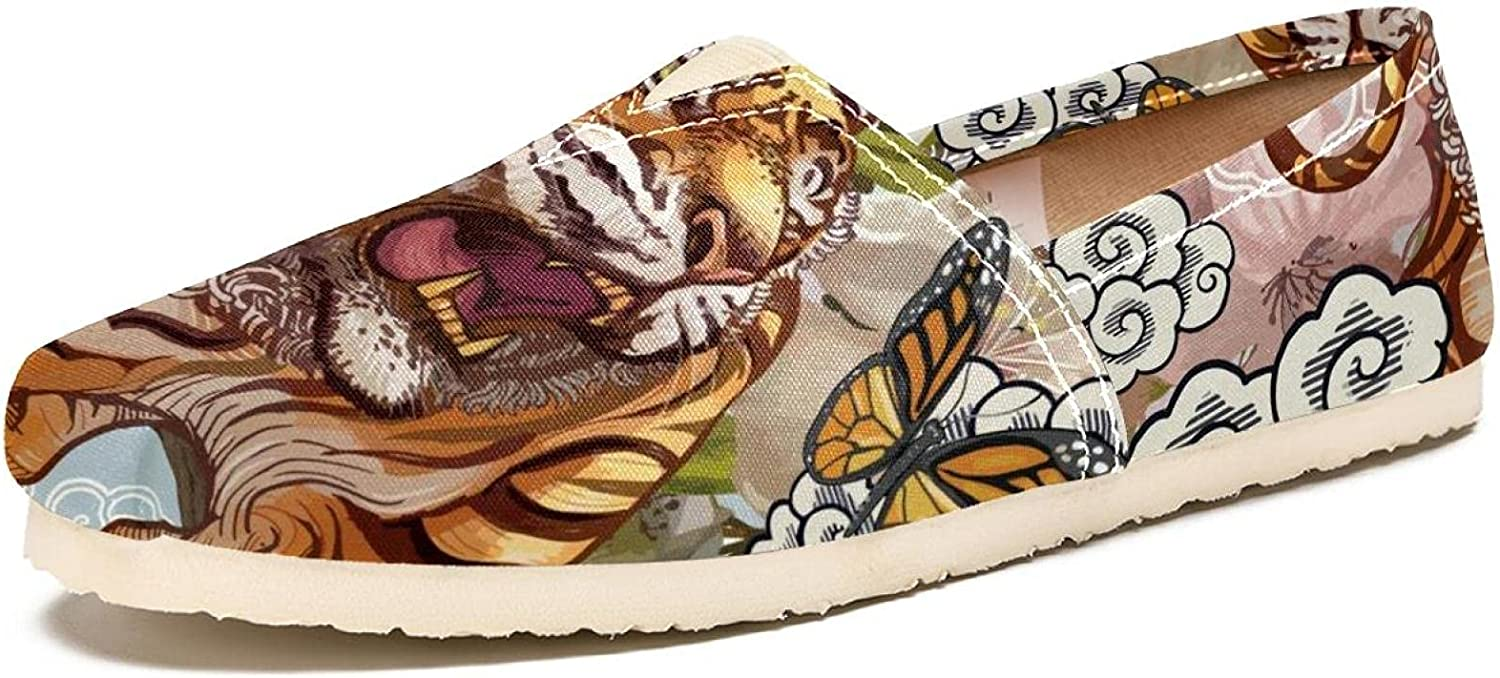 Women's Shoes Canvas Fashion Low price Max 68% OFF Travel Painted F Clouds Tiger