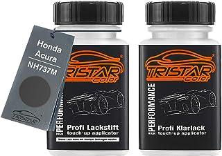 TRISTARcolor Autolack Lackstift Set für Honda/Acura NH737M Polished Metal Metallic/Argent Acier Metallic Basislack Klarlack je 50ml