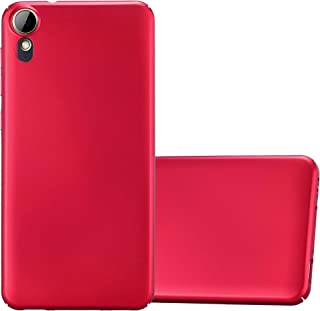 Cadorabo Case Works with HTC Desire 10 Lifestyle/Desire 825 Plastic Hard Cover METAL RED DE-122129