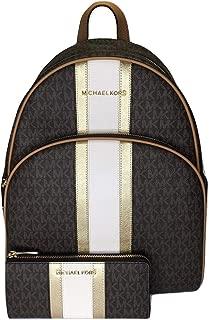 MICHAEL Michael Kors Abbey Large Backpack bundled with Michael Kors Jet Set Travel 3/4 Zip Wallet