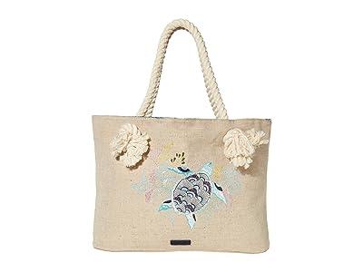 Sakroots Bayside Reversible Tote (Royal Blue Seascape) Handbags