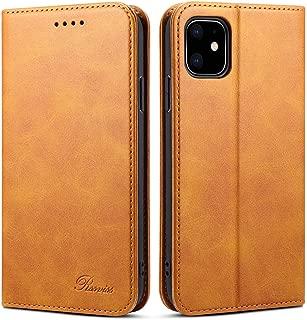iPhone 11 ケース 手帳型 iPhone 11 ケース-Rssviss カード収納 スタンド機能 高級PUレザーケース マグネット アイフォン11 財布型 スマホケース(iPhone 11 6.1 inch対応) W1 レトロブラウン
