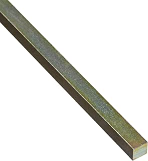 Steel Key Stock, Gold Dichromate Finish, Standard Tolerance, Metric, 4 mm Thickness, 4 mm Width, 12