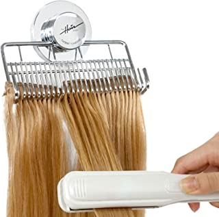 The Hair Shop Hair Extension Style Mate 2 | Portable Holding Caddy that Stores, Washes, Styles, and Secures 100% Human Hair Extensions - Works for Clip-ins, Halos, Wefts