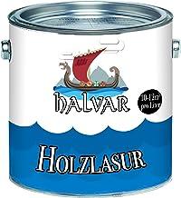 Halvar Holzlasur skandinavische Lasur wetterfest - atmungsaktiv - Lichtbeständig - aromatenfrei - tropfgehemmt - UV-beständig in 12 Farbtönen Außen-Lasur Holz-Schutz Holz-Öl 1 L, Lärche