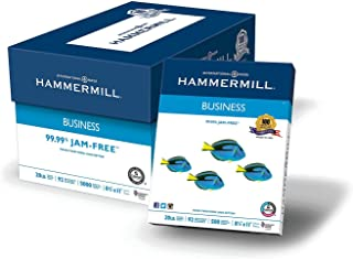 """Hammermill Business Copy Paper, 20lb, 92 Bright, 8 1/2"""" x 11"""", 10 Ream Case (pack of 2)"""
