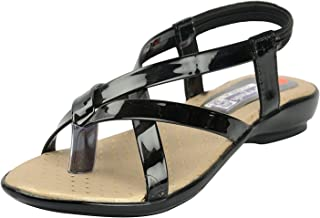 BELLY BALLOT Black Baby Girls' Fashion Sandals