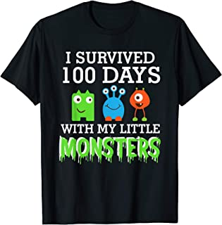 I survived 100 Days with My Little Monsters Students T Shirt