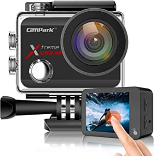 Campark X30 Action Camera Native 4K 60fps 20MP WiFi with EIS Touch Screen Waterproof Camera 40M, 2x1350mAh Batteries and P...