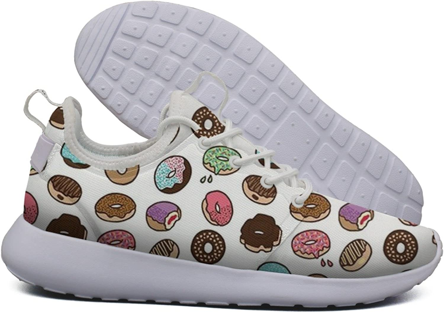 HASIDHDNAC Donut Stress Just Do Your Best Teacher Pink Jogging Work shoes Women's Lightweight Sport Running Sneaker
