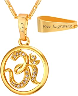 Best gold om pendant jewelry Reviews