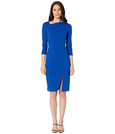 Calvin Klein Asymmetric Sheath Dress with Bottom Slit Women