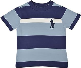 44d92afb Polo Ralph Lauren Boys Kids Big Pony Cotton Jersey Tee, Blue MU