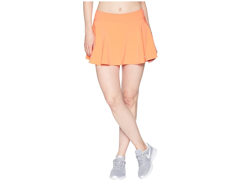 Nike Nike Court Flex Pure Tennis Skirt (Light Wild Mango/White) Women