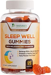 Sleep Support Melatonin Gummies Extra Strength Sleep Gummy with B6 and Passiflora - Natural Adult Sleeping Gummies - Best ...