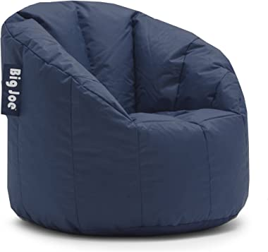 Big Joe Ultimate Comfort Milano Bean Bag Chair with Ultimax Beans in Great for Any Room in Multiple Colors (Navy) (Navy) (Nav