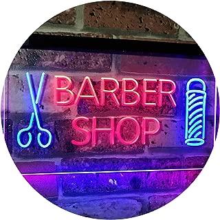 ADVPRO Barber Shop Hair Cut Scissor Pole Display Dual Color LED Neon Sign Blue & Red 16