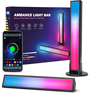 Smart LED Lightbar 2er Pack, Ezanaki RGB Ambient Lampe, LED TV Hintergrundbeleuchtung für Deko Zimmer, Gaming Lampe Sync m...