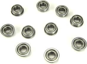 10pcs. 4x8x3mm Flanged Precision Ball Bearings Chrome Steel Metal Shields