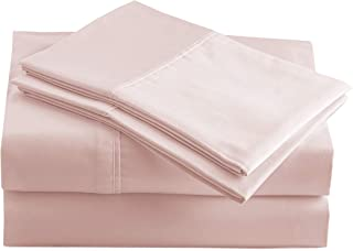 100% Organic Cotton Sepia Rose Full-Sheets Set, 4-Piece Pure Organic Cotton Long Staple Percale Weave Ultra Soft Best Bedd...