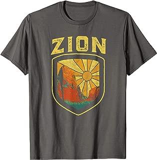 Zion National Park Vintage Badge Retro Distressed 80's T-Shirt