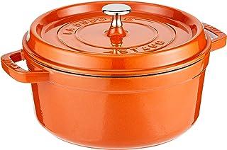 STAUB Cast Iron Round Cocotte, 4-quart, Burnt Orange