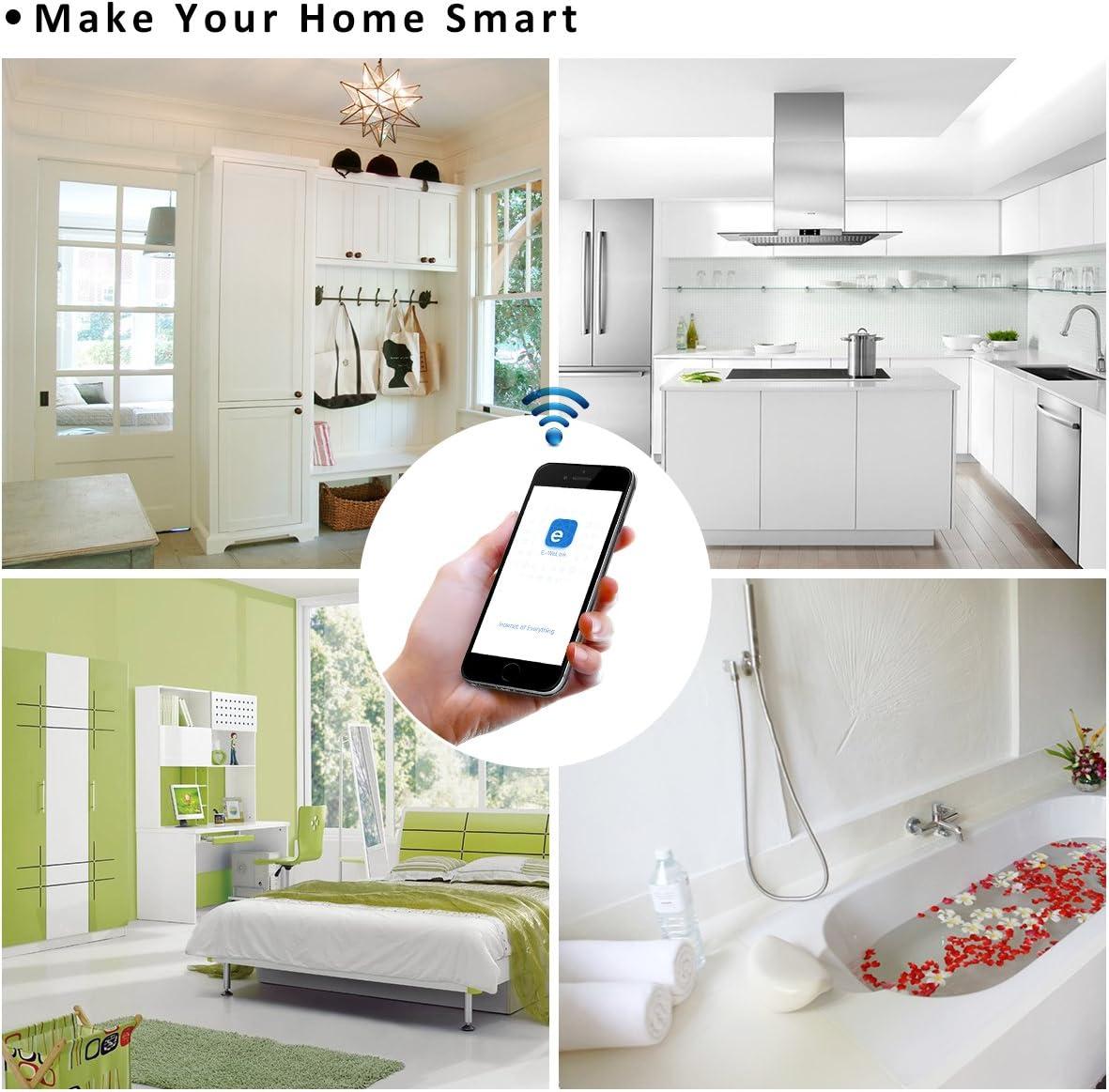 4CH Pro R3 Interruptor Inteligente WiFi Smart Switch Inal/ámbrico Conmutador con Autobloqueo//Enclavamiento//Intermitente 0,5-3600s Google Assistant Nest IFTTT para  Alexa Elettroscopio