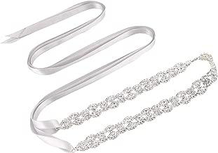 Bridal Wedding Thin Rhinestone Belts - Dress Accessories Sash Crystal Belt